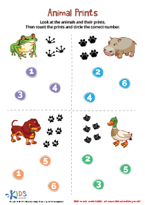 Animal Paw Prints Worksheet