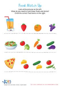 Food Matching Worksheet