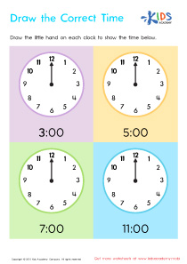 Telling The Time PDF Worksheets, Part 1