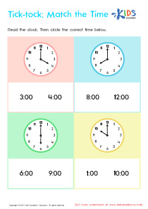 Telling The Time PDF Worksheets, Part 4