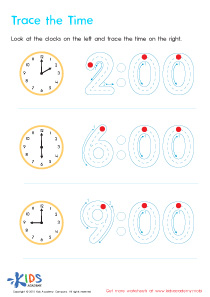 Telling The Time PDF Worksheets, Part 2