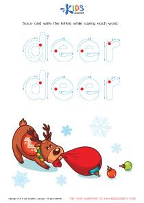 Tracing Winter Words: Deer