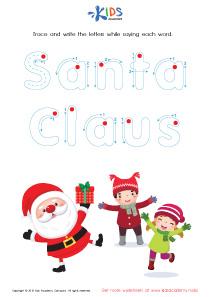 Tracing Winter Words: Santa Claus